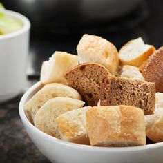 Artisan breads for dipping. Enter The Melting Pot's new menu Pinterest contest for chance to win free fondue for a year or one of four 100-dollar Melting Pot gift cards!