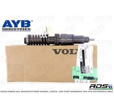 3801617 DIESEL INJECTOR FOR VOLVO PENTA TAD1140VE, TAD1141VE TAD1142VE TAD1150VE TAD1151VE  Please contact for sales and more:  sales@ayb-industries.com  www.ayb-industries.com Phone/whatsapp: +90 544 291 02 00