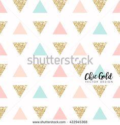 Modern Chic Gold Background Vector Design  - stock vector