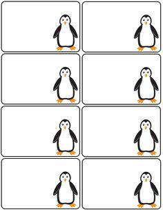 Labels, penguin labels, printable labels ,printables Printable Name Tags, Printable Labels, Printables, Penguin Clipart, Numbers Preschool, Preschool Activities, Penguin Parade, Penguin Birthday, Cards