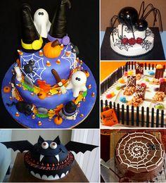 Se acerca Hallowen, fijate las diferentes opciones que tienes para decorar una torta, esta super lindas :D