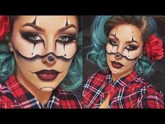 Gangster Clown Halloween Tutorial- CHRISSPY - YouTube