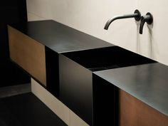 COCOON black bathroom taps bycocoon.com | black taps inspiration | stainless steel | bathroom design and renovation | minimalist design products for your bathroom and kitchen | villa and hotel projects | Dutch Designer Brand COCOON
