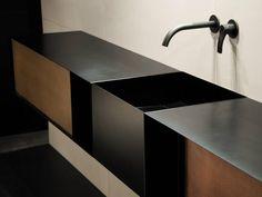 minimal geometric bathroom sink