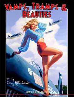 Vamps, Tramps, and Beauties - paperback, signed, Greg Hildebrandt