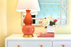 yellow and coral bedroom | Laura Martin Bovard Interiors - girls rooms - yellow girls bedroom ...