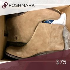 Lucky Brand Beige Booties Brand new Box included  The bottoms looks like this for trying on, I never worn this Booties! Feel free to ask any questions Offers are welcome!😊 Lucky Brand Shoes Ankle Boots & Booties