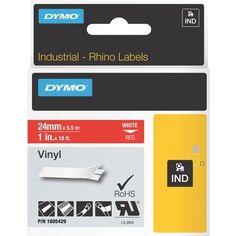 Dymo on Red Color Coded Label