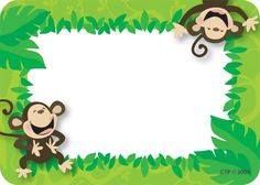 Monkey Business Name Tags   CTP4506