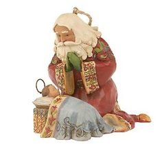 Jim Shore ornament - Santa kneeling with Baby Jesus