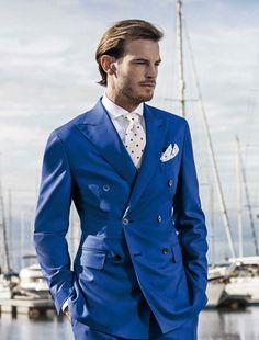 Latest Coat Pant Design Royal Blue Double Breasted Custom Wedding Suit for Men Formal blazer Slim Fit Tuxedo 2 Piece Vestido F Formal Prom Suits, Men Formal, Slim Fit Tuxedo, Tuxedo For Men, Mens 3 Piece Suits, Mens Suits, Blazer Suit, Suit Jacket, Cheap Suits