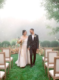 Foggy Romantic Lodge Wedding Ideas