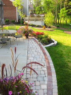 Stones and pavers to extend the patio