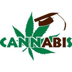 Cannabis Abitur - F�r jede Chillige Abifeier mit etwas Cannabis. Ein Cannabisblatt mit einen Abiturhut auf.