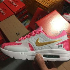 finest selection e728f f39a4 Where To Buy 2018 Nike Air Max Zero PinkFire Metallic Gold White Pink Pow