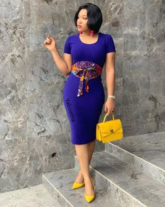 Lovely Ankara Patch Style of The Week by U D E M E @bellaraju Short African Dresses, Latest African Fashion Dresses, African Inspired Fashion, African Print Dresses, African Print Fashion, Cinto Obi, African Print Dress Designs, African Design, Elegant Dresses Classy