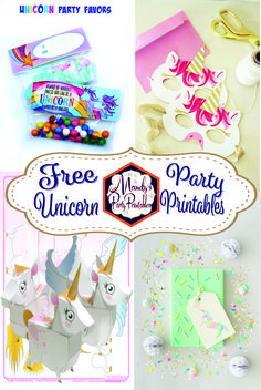 Don't miss out on these FREE unicorn party printables from Mandy's Party Printables!