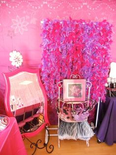 Pop Star Party by Soiree Event Design: dress up area