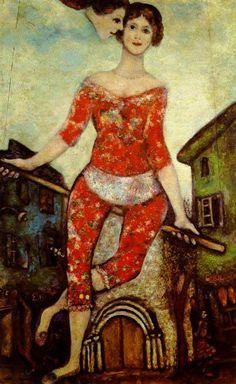 Marc Chagall - L'Acrobata Non invidio in alcun modo - Alfred Tennyson Non invidio in alcun modo il vuoto opprimente della nobile rab...