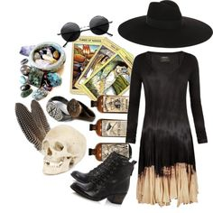 The American Witch by crybabywalk3r on Polyvore featuring AllSaints, Dune and Yves Saint Laurent