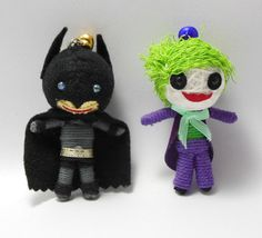 Joker Batman String doll Voodoo doll keychain