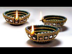 Arti Thali Decoration, Diwali Decoration Items, Thali Decoration Ideas, Diwali Decorations At Home, Festival Decorations, Diwali Diya, Diwali Craft, Diwali Gifts, Home Design