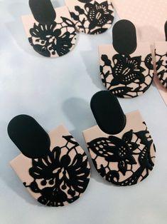 Diy Clay Earrings, Earrings Handmade, Etsy Earrings, Handmade Polymer Clay, Lace Design, Earrings Photo, Beautiful Earrings, Statement Earrings, Gifts For Her