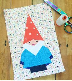 EASY FREE SEWING PATTERNS: 20 Free Holiday Gnome Patterns Lovely collection of free sewing patterns for beginners to decorate your holiday home Free Paper Piecing Patterns, Quilt Block Patterns, Sewing Patterns Free, Pattern Paper, Quilt Blocks, Free Sewing, Sewing Ideas, Hat Patterns, Foundation Paper Piecing