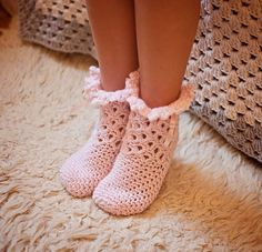 Crochet PATTERN - Lace Frill Socks (sizes baby to adult) (English only) Lace Socks, Crochet Slippers, Crochet Butterfly, Crochet Lace, Marker, Good News, Play Clothing, Wedding Socks, Age