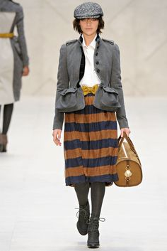 Burberry London FW 2012  Caps, again? london & NYC gone completely Sherlock!!!
