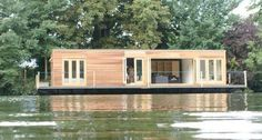 If you've always wanted to live in a houseboat, but the low roof and basic living conditions put you off...then the ecofloat is for you. It is a little house that floats.