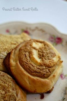 Peanut butter sweet rolls have a unique peanut butter cookie filling. From RestlessChipotle.com