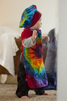 Rainbow Tie Dye Children's Chef Hat and Apron by inspiringcolor, $25.00 on etsy