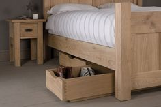 Under Bed Oak Shoe Drawer