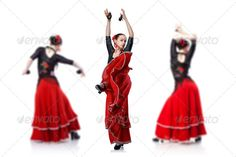 young woman dancing flamenco isolated on white ...  action, adult, attractive, back, ballerina, ballet, beautiful, beauty, carnival, caucasian, clothes, color, dance, dancer, dancing, dress, elegance, expression, fashion, female, flamenco, girl, hispanic, human, isolated, latin, leisure, lifestyle, modern, motion, move, movement, music, people, performance, person, posing, red, romance, rose, salsa, samba, sensuality, sexy, spain, spanish, three, white, woman, young