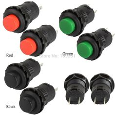 A13 2 Pc/lot Sin Bloqueo interruptor de reinicio botón Push OFF-ON Car/Boat/Juguetes 12mm 427 # VE061 P