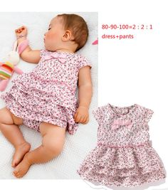Aliexpress.com : Buy Retail 1pcs free shipping top quality  fashion girl's 2PC suit baby girl clothes set dress + short in stock 80 90 100 from Reliable girl's suit suppliers on J ANGEL
