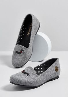 e88c303911d6 Leash It at That Dog Loafer in 6 by Loly in the sky from ModCloth Dachshund
