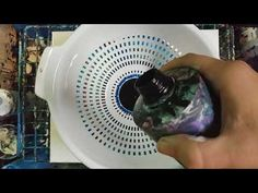 Acrylic Pour through a colander - YouTube