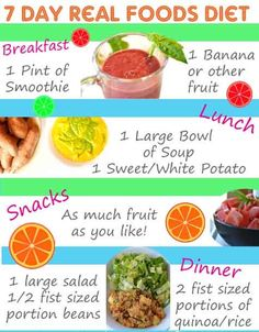 7 Day Real Food Diet: Lose weight naturally with whole healthy food Best Diet Foods, Healthy Diet Tips, Best Diets, Real Foods, Healthy Style, Eat Healthy, Healthy Dishes, Healthy Snacks, Best Weight Loss Exercises