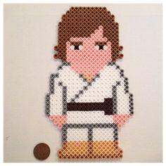Luke Skywalker Large Perler Art / Magnet Star Wars by K8BitHero, $9.00
