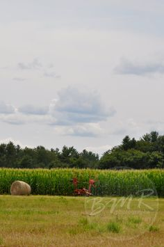 Clouds and Hay by BMRphotographs on Etsy