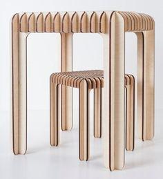 BRICOLAGE  puzzle bois chaise en bois / puzzle par SweetDreamIdeas
