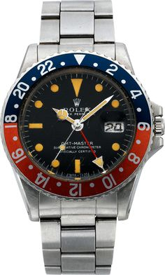 """1968 Rolex GMT Master """"Pepsi"""" Ref 1675, Caliber 1580 worn by NASA Apollo 17 Commander Evans that spent time on the lunar surface."""