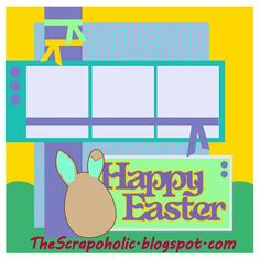 L Sketch 51 Happy Easter Bunny Page