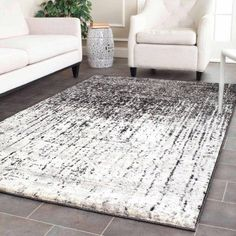 Safavieh Retro Elsie Power Loomed Area Rug, Black and Light Grey