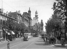 Fotos de la Historia Uruguaya avenida 18 de julio