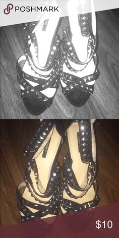 High heels Studded black and sexy Forever 21 Shoes Heeled Boots