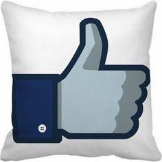 Capa De Almofada 40x40 - Facebook CV072 - Quero Almofadas
