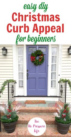 These Christmas curb appeal ideas are easy to DIY in under an hour with supplies you can use year after year. If you're looking for outdoor Christmas . Christmas Planters, Christmas Porch, Outdoor Christmas Decorations, Diy Christmas Ornaments, Simple Christmas, Holiday Decor, Outdoor Decor, Christmas Ideas, Coastal Christmas